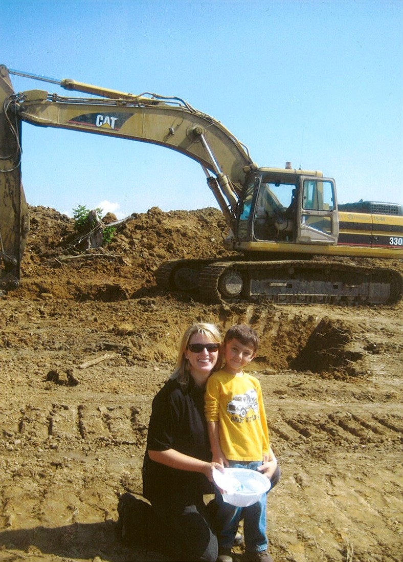 Jack and his mom, Jill at Bulldozers and Breakfast on August 1st